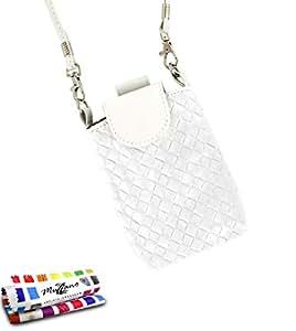"""'Muzzano """"CityPoche Premium Tasche für Samsung Galaxy S4Advance, Weiß"""