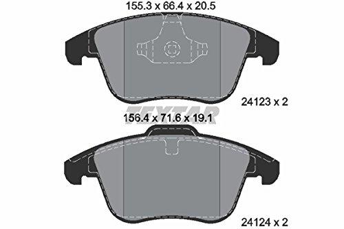 Textar 2412301 Bremsbelagsatz, Scheibenbremse