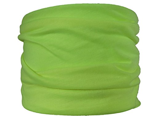 Multifunktionstuch gelb/Lime grün