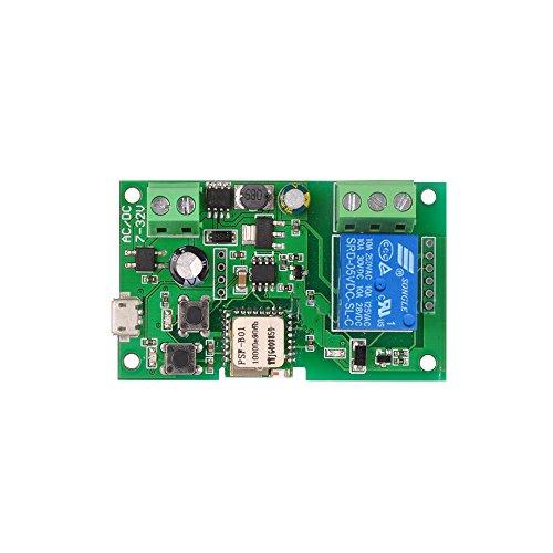 OWSOO Wifi Interruttore DC5V 12V 24V 32V Wireless Modulo Relè Phone APP Telecomando Timer Interruttore Alexa Controllo Vocale per Sistema di Controllo Accessi
