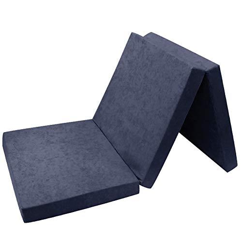 *FORTISLINE Klappmatratze Gästematratze 11. Marineblau L – 195x80x9cm W389_11*