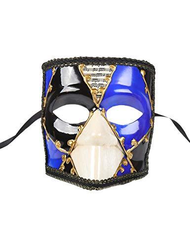 TAAMBAB Maskerade Bauta Masken Vintage Venezianische Musikalische Partei Masken Retro Römischen Griechischen Stil Lady Girl Men Augenmaske für Halloween Maskerade Kostüm Kostümball - Venezianische 16 Licht