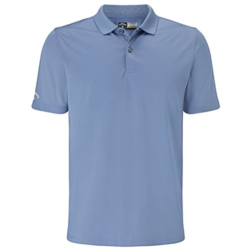 Callaway 2017 Opri-Dri Classic Chev Solid Mens Golf Polo Shirt Moonlight Blue Medium (Shirt Gesticktes Golf Logo)