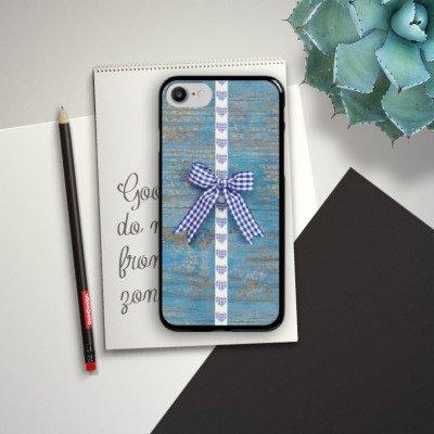 Apple iPhone X Silikon Hülle Case Schutzhülle Holz Look Schleife Herz Oktoberfest Hard Case schwarz