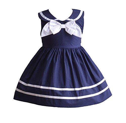 Cinda Baby-Mädchen-Sommer-Partei-Kleid Blau 74-80