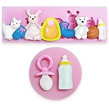 Bebé y pollitos de Fiesta de bebé ducha forma de decoración de azúcar Fondant decoración para
