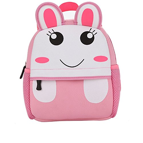 YAAGLE kinderrücksack Mädchen Jungen Kindergartenrucksack süß Kindergartentasche ZOO-Rucksack mit Tier Cartoon Kindergarten Schultasche für 1-3 Jahre Alte Baby Häschen