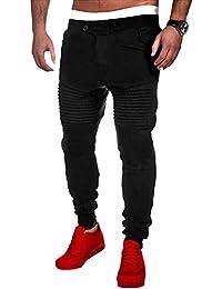 Blue Vessel Mens Jogger Tanzsportwear Baggy Harem Pants Slacks Hosen Jogginghose (schwarz)