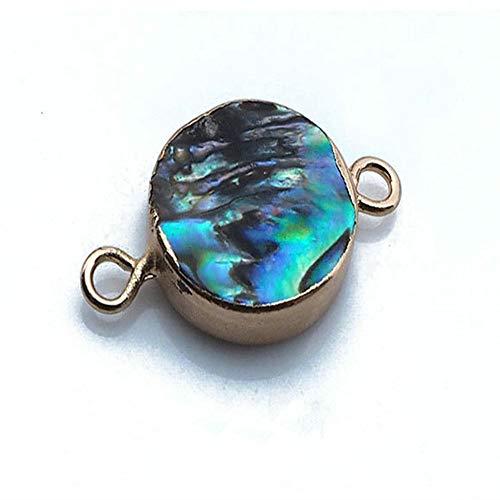 handgemachte Runde Abalone Shell Anhänger Schmuck Machen Anhänger Halsketten für Frauen Mädchen ()