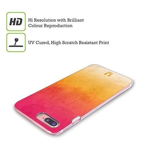 Head Case Designs Azzurro E Arancione Aquarello Sfumato Cover Retro Rigida per Apple iPhone X Rosa E Giallo