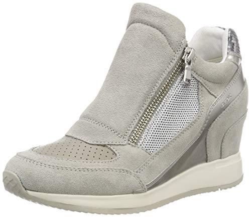 Geox D D Nydame a, Baskets Hautes Femme, ((Lt Grey C1010), 37 EU