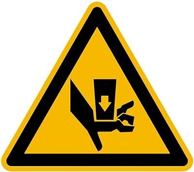 LEMAX® Aufkleber Warnung vor Quetschgefahr durch Einpreßwerkzeug SL 100mm