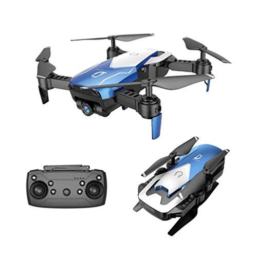 TAOtTAO X12 Drone 0.3MP Kamera Wifi FPV 2.4G Ein Schlüssel Return Quadcopter Spielzeug Geschenk (Blau)