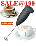 #4: Electric Automatic Milk Frother For Coffee Cappuccino Stirrer Foamer Handheld Stainless Steel Frothing Egg Beater Whisk Mixer