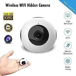 WANGGANG WiFi caméra cachée, 1280P HD sans Fil à la Maison de sécurité Smart Mini caméra de Sport de Surveillance, Vision Nocturne caméra Moniteur Maison, Voiture, Drone, Utilisation de Bureau