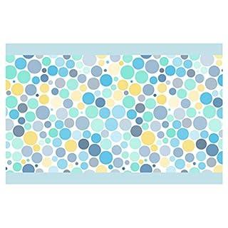 I-love-Wandtattoo Kinderzimmer Bordüre Borte Kreise in Blau, Gelb und Mint Junge Mädchen Wanddeko