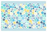 dekodino Kinderzimmer Bordüre Borte Kreise in Blau, Gelb und Mint Junge Mädchen Wanddeko
