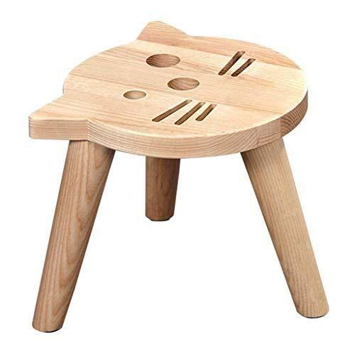 Massivholz-gestell Mit Fußstütze (YDHYYDQCFJL Hocker Rest Osman Hocker Kleine Hocker Hausbank Ändern Schuhe Cartoon Baby Chair Kindergarten Lernen Kinder Massivholz)