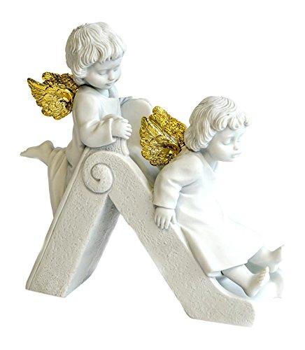 Nadal Figura Decorativa tobogán angelical, Resina, 8.00x13.50x13.50 cm