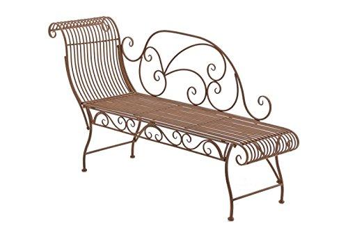 Gartenbank Elegante l Gartenliege l Recamiere aus Metall l antik-braun