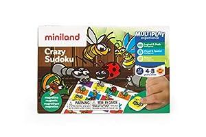 Miniland- On The Go: Crazy Sudoku Juego magnético para niños. (31960)