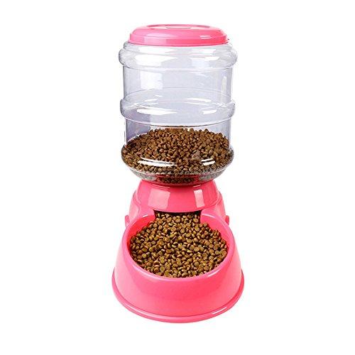 Decdeal Futterautomat Automatischer Futterspender Wasserspender für Hund Katze 3,5 Liter
