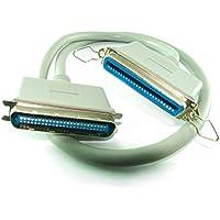 CDL Micro - Cable de extensión de 1 m SCSI-1 de 50 Pines Centronic Macho a Hembra, Color Beige