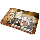 liangxiquguidaojiaotongshe Non-Slip Doormat Camera Kitten Durable Mat rug Bathroom Bedroom Floor Carpet