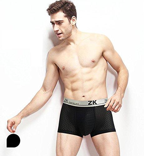 Zuku Life underwear Herren Boxershort Eisige MESH Trunk (Schwarz L) (Mesh-stretch-slips)