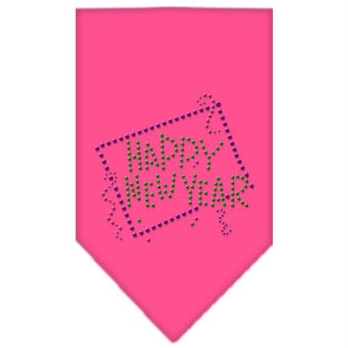 Mirage Pet Products Happy New Year Strass Bandana, klein, hell rosa -