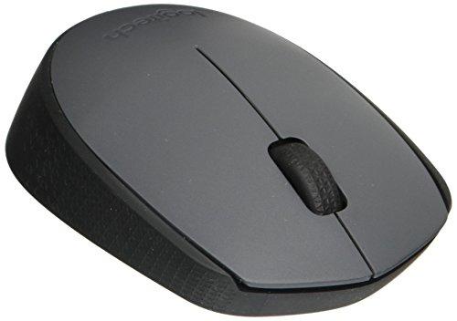 Logitech M170 2. 4 GHz kabellose optische 3-Tasten-Scroll-Maus (mit Nano-USB-Empfänger) grau / schwarz