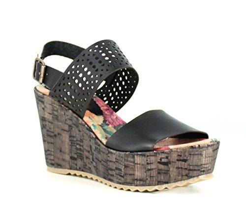 span classb prefix span Foreva girls Wedge sandal