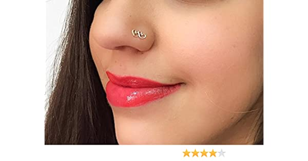 Tiny Heart Nose Stud L Shaped Piercing Jewelry 22 Gauge Gold Filled Sterling Silver Handmade Amazon Co Uk Handmade