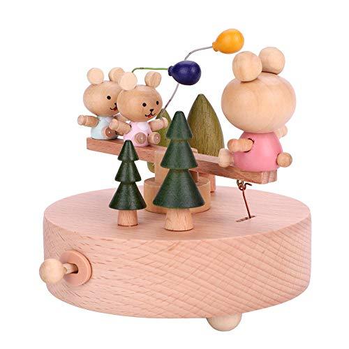 Zerodis Spieluhr Holz Baby Kreative Musikspieluhr Spielzeug Handwerk Geburtstag Valentinstag Weihnacht Geschenk(#2)