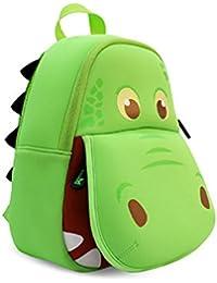 BINGONE NOHOO–Bolsa de hombro para 3d Cartoon Animal mundo, diseño de hipopótamo verde Green Hippo Talla:pequeño