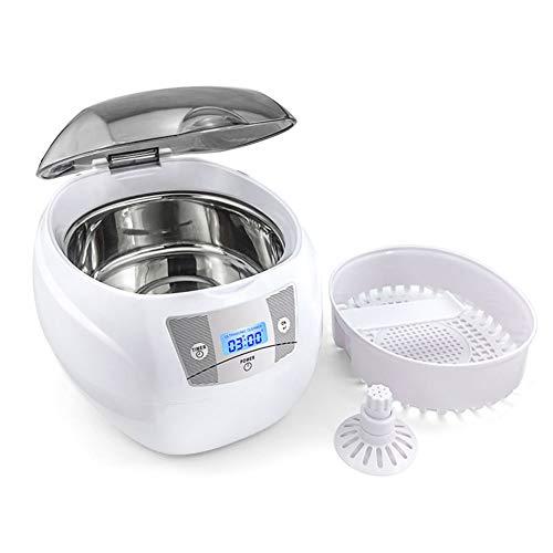 KHSW 750 ml 35 w Ultraschall Schmuck Reiniger für Maniküre Schneider Werkzeuge Prothese Gläser Rasiermesser Münzen Ultraschall Reinigung Maschine,White
