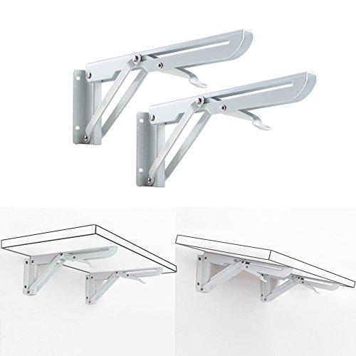 Regalwinkel Metall Regalträger weiß Schwerlastträger bis 50 kg Regalbodenträger