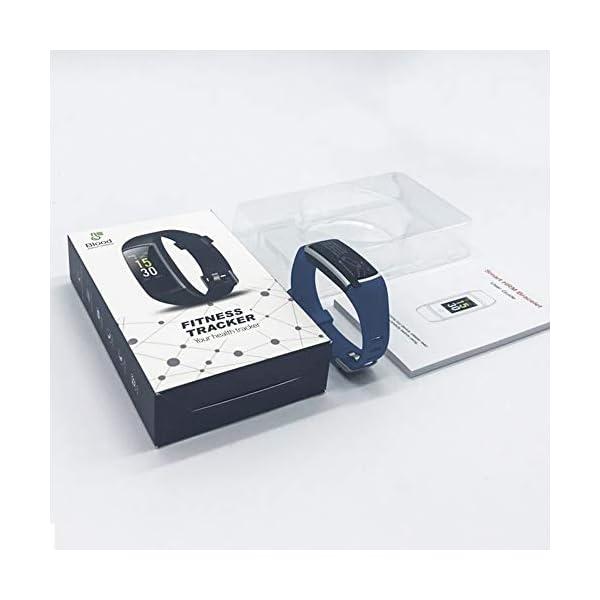 YONMIG Pulsera de Actividad, Pulsera Inteligente Impermeable IP68 con Pulsómetro y Presión Arterial, Monitor de Podómetros, Monitor de Calorías Notificación de Mensaje Deporte para iOS y Android 9