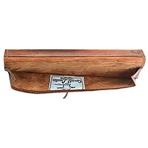 41XJo3FRtOL. SS300  - Gusti Estuche de Cuero - Felix neceser escolar papeleria pequeño marrón cuero