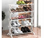 #9: Buyer zone Shoe Rack (5 Racks) Fancy / Durable With Aluminium Rod & Plastic Base / Best Home Multiutility Product