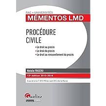 Mémentos LMD - Procédure civile 2015-2016, 12ème Ed.