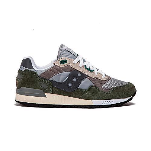 Saucony Shadow 5000 Vintage, Zapatillas Unisex Adulto, Verde (Grey/Green 13), 43 EU
