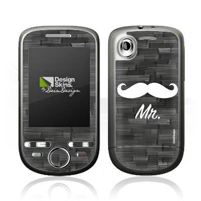 DeinDesign HTC Tattoo Case Skin Sticker aus Vinyl-Folie Aufkleber Love Bart Mustache Grau