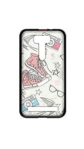 Multi Designer Mobile Case/Cover For Zenfone 2 2D black