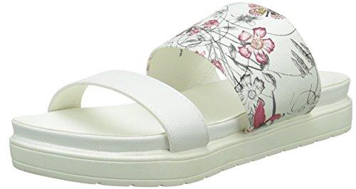 Initiale - Saphir, Sabot Donna Bianco (Blanc (Blanc/Fleurs))