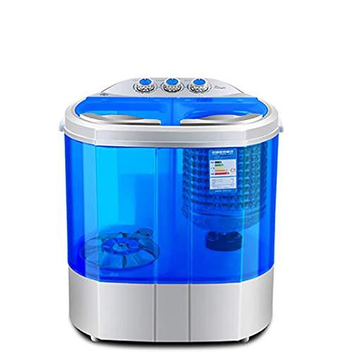 Mini Waschmaschine Uv Bakteriostatischer Kleiner Tragbarer Doppelter Wanne-Halbautomatischer Unterlegscheiben-Drehtrockner FüR Kind-Baby 2.2KG / 4.8Lbs Waschende KapazitäT-Haushalts-Reise -