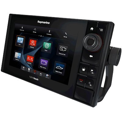 Raymarine E70274-CROW ES-Serie ES97 Hybrid Touch Multifunktionsdisplay-Fischfinder (22,9 cm (9 Zoll), WiFi, C-MAP Row Essentials Karte) -