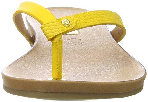 ALDO Damen Tricia Offene Sandalen mit Keilabsatz Gelb (69 Mustard)