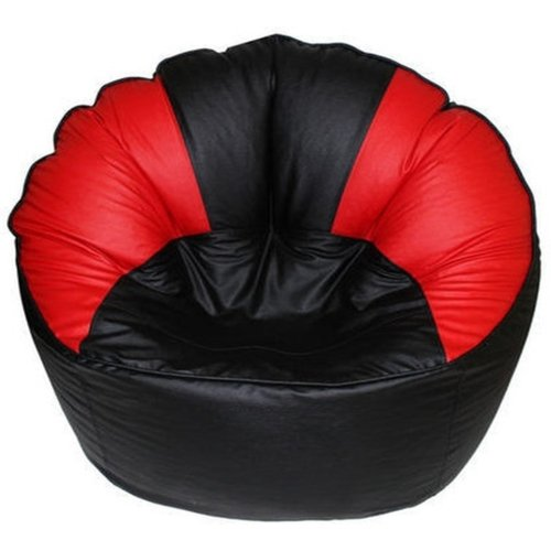 The Furniture Store flowerblack XXXL Bean Bag Cover King(Without Beans)(Red)