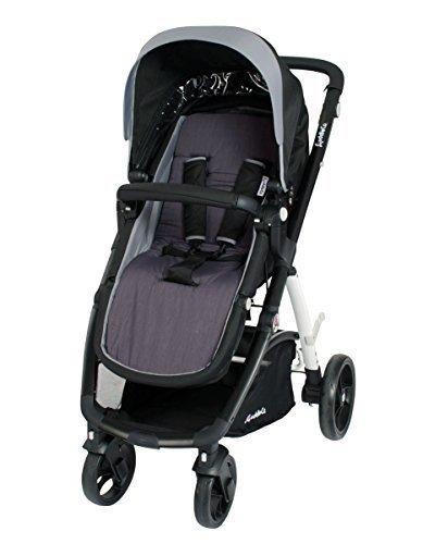 Comfi-Cush Reversible Memory Foam Stroller Liner – Dove – Grey & Black